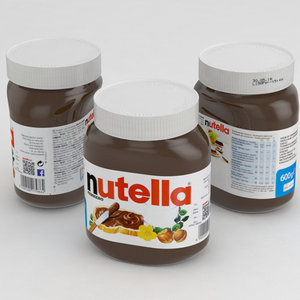 3D model nutella 600g jar