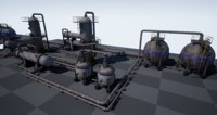 3D pbr industrial vessels pack