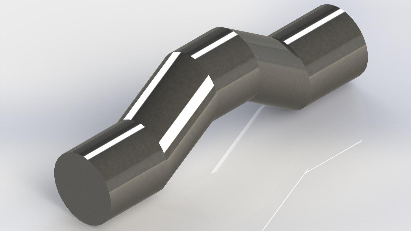 crankshaft single cylinder engine 3D model