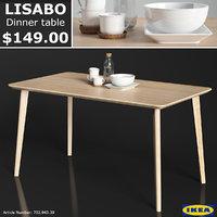 3D ikea lisabo dinner table