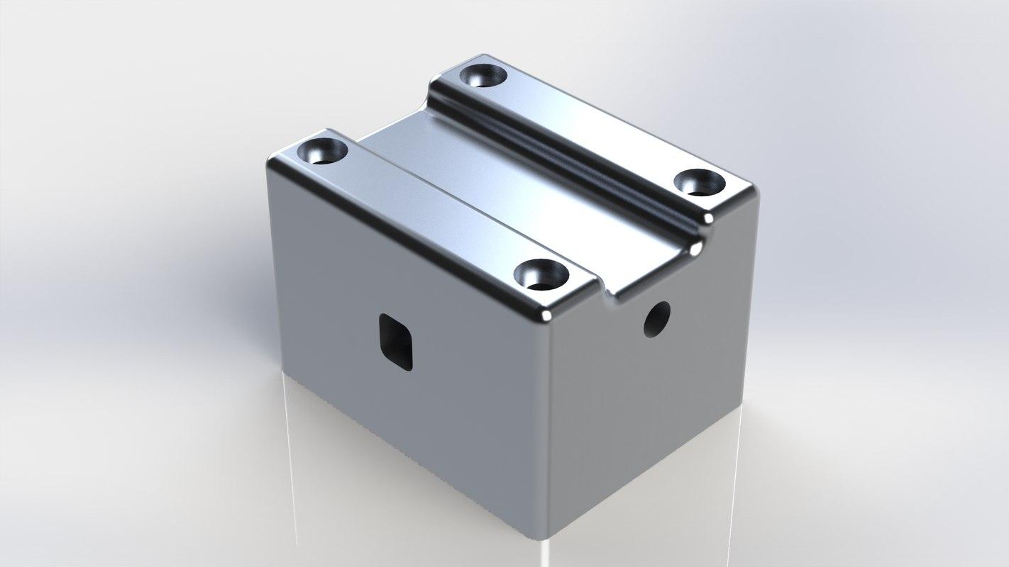 cylinder single engine solidworks 3D
