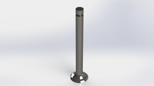 3D model exhaust valve single cylinder engine