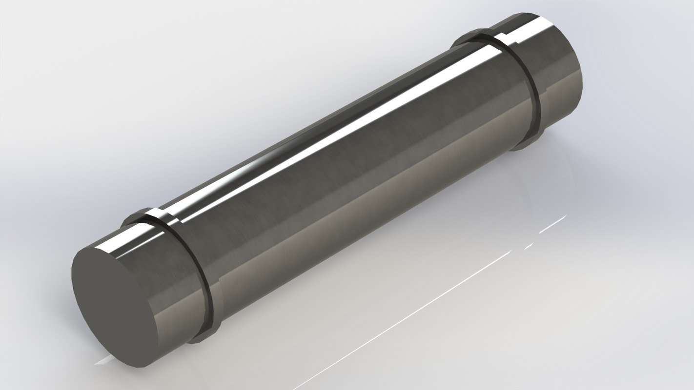 3D gudgeon pin single cylinder engine model