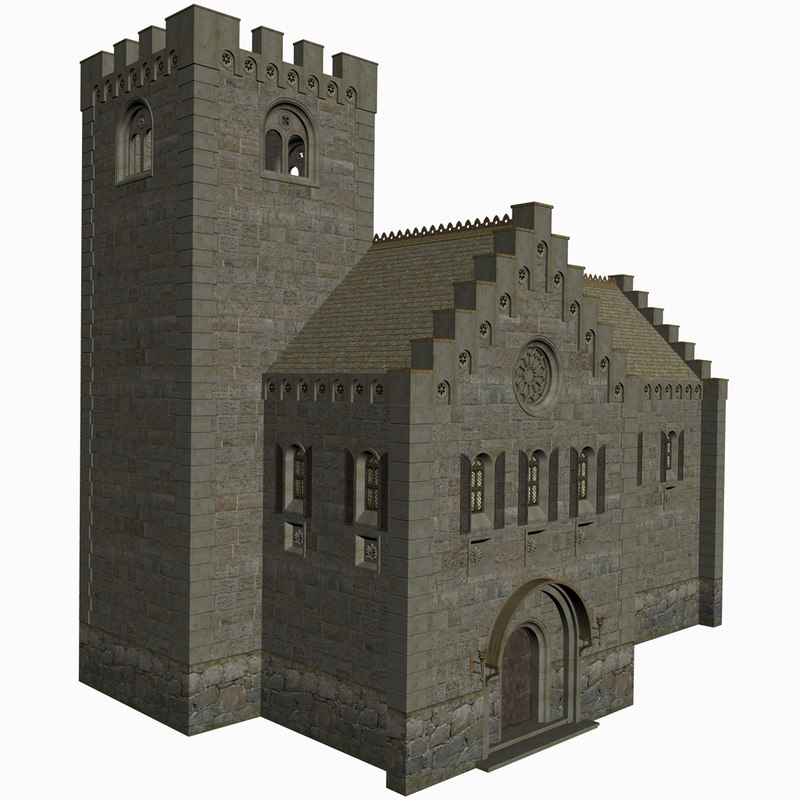 medieval house games 3D model