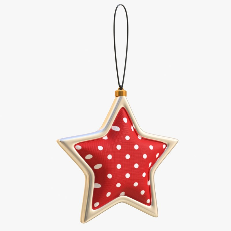 cr01 christmas tree star 3D model