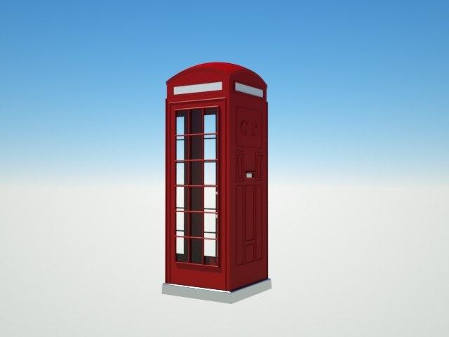 phone box london 3D model