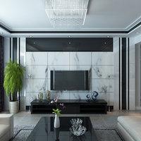 room modern living 3D model