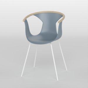 3D pedrali fox 3726 chair plastic