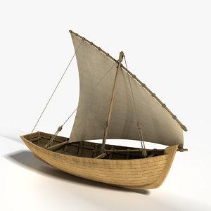 dhow fishing 3D model