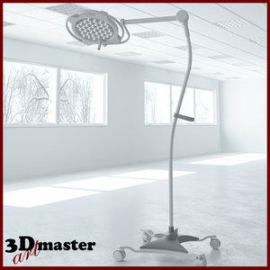 3D model medical surgical light floor