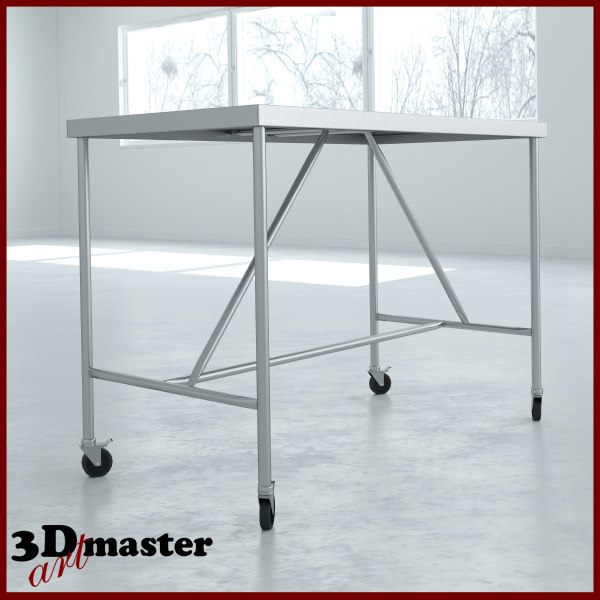 3D model central table