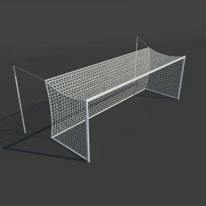 3D ready soccer goals