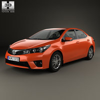 3D toyota corolla 2014 model