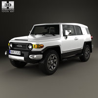3D toyota fj cruiser model