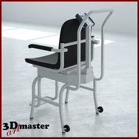 3D medical digital chair scale model