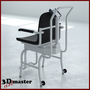 3D medical digital chair scale model
