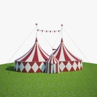 3D model big circus tent