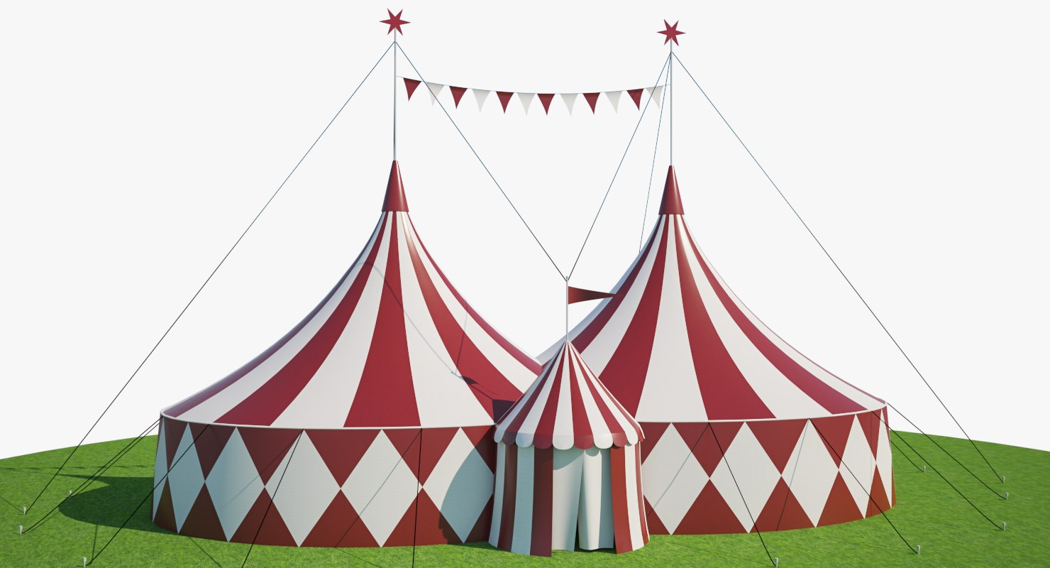 3D model big circus tent & 3D model big circus tent - TurboSquid 1222715