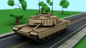 lego tank abrams m1a2 3D model