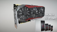 asus strix 980 ti 3D model