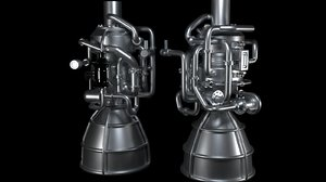 3D engine thrusters model