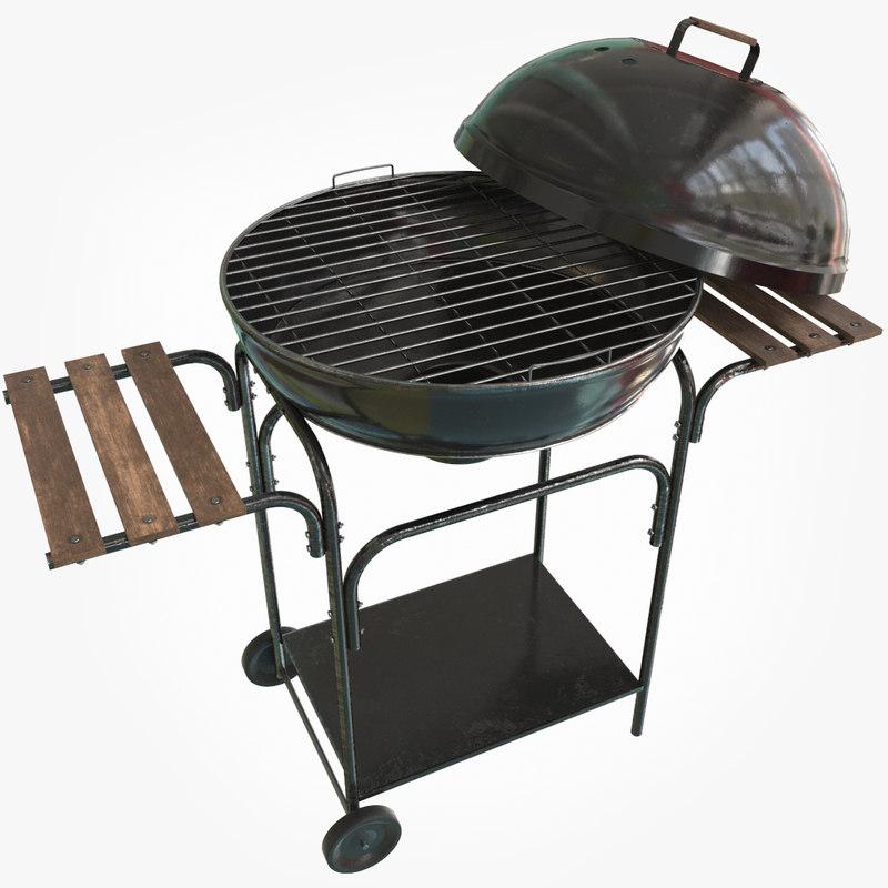 bbq grill 3D model