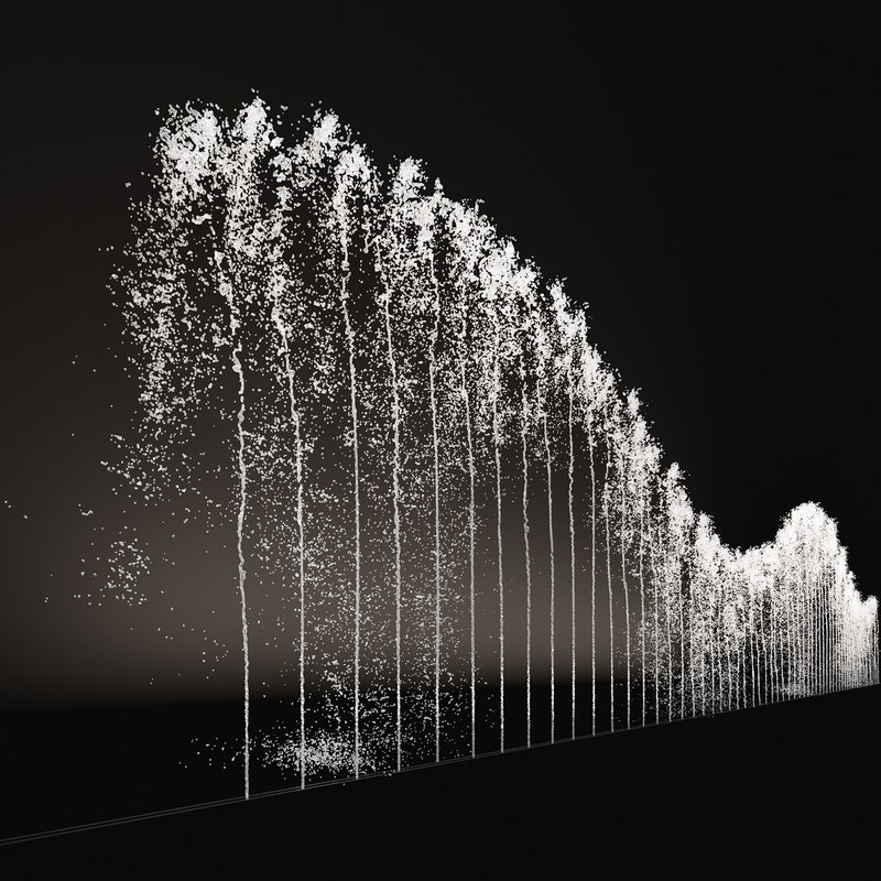 3D jets fountains