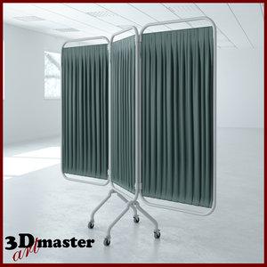 medical 3 panel steel 3D model