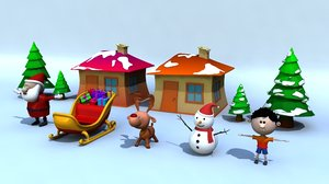 3D xmas pack - rigged