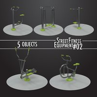 Street Fitness Equipment 5objects #02