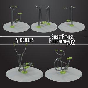 street fitness equipment 5objects model