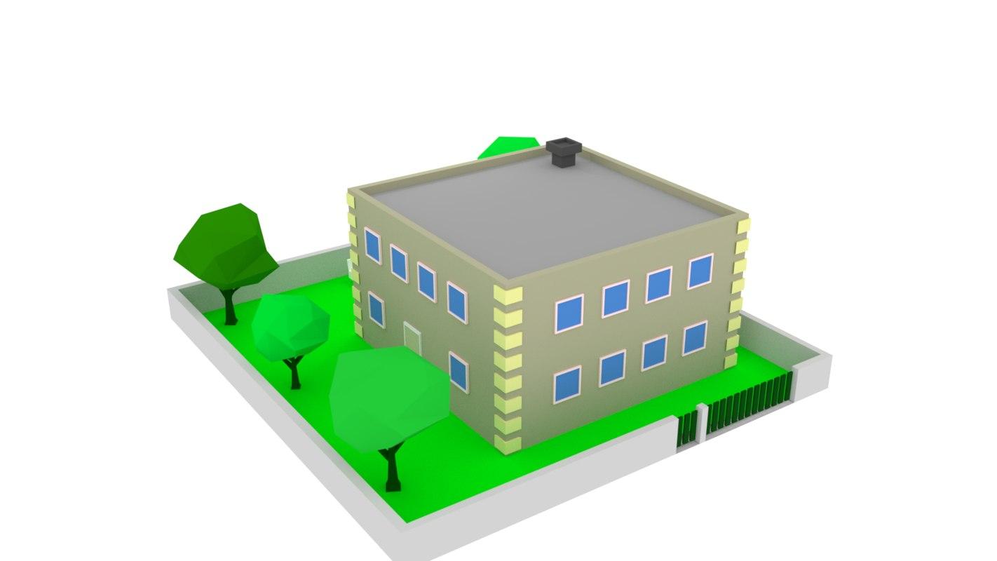 3D model zone medium density residential