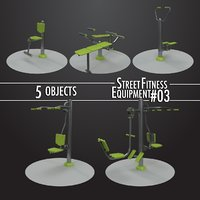 Street Fitness Equipment 5objects #03