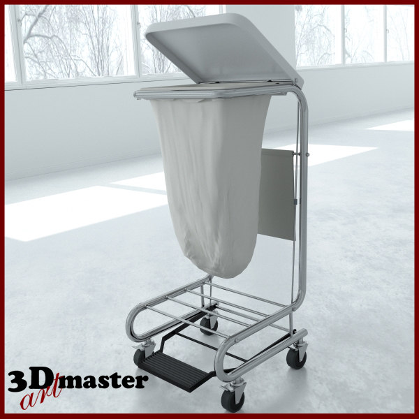medical square tilt-top hamper 3D model