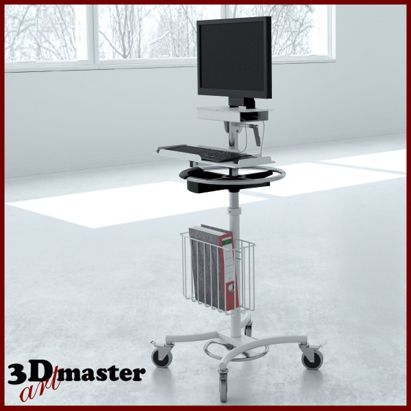 3D medical all-in-one computer stand model