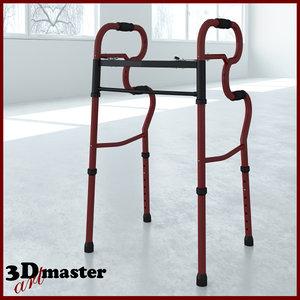 3D adult stand-assist walkers model