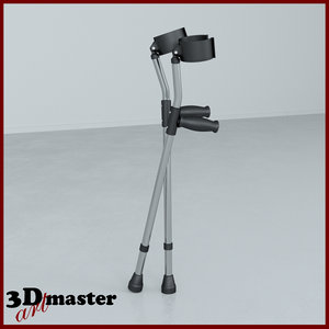 guardian forearm crutches 3D