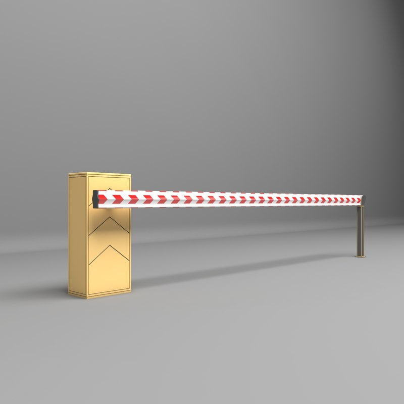 3D model barrier parkin park