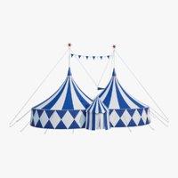 big circus tent - 3D model