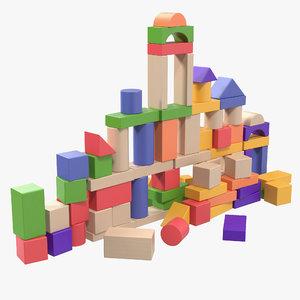 3D baby building blocks