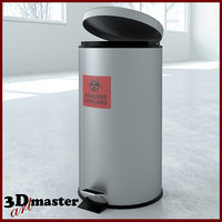large stainless steel waste 3D model