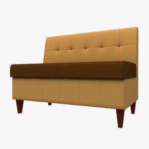 3D sofa wooden legs