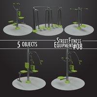 3D street fitness equipment model