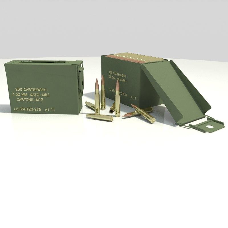 ammunition box 3D model