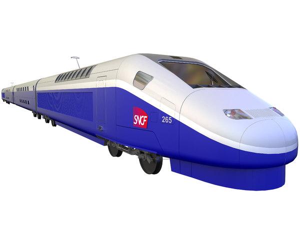 3D sncf tgv duplex model