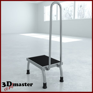 3D medical stool whith handrail