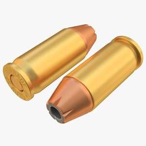 cartridge 45acp bullet 01 3D