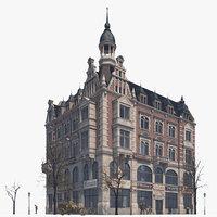 3D building strasse berlin model
