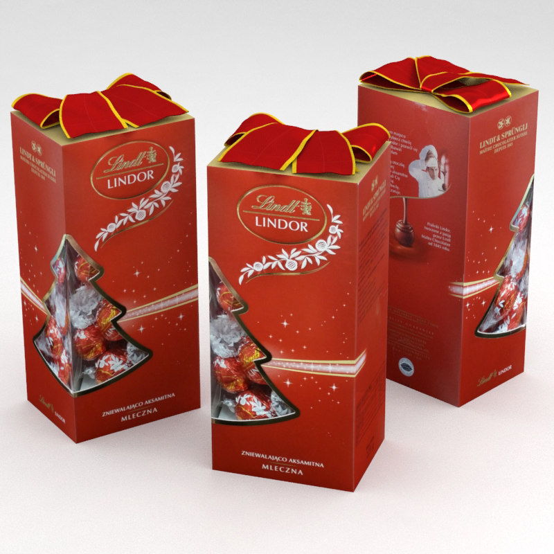 3D model lindt lindor christmas chocolate
