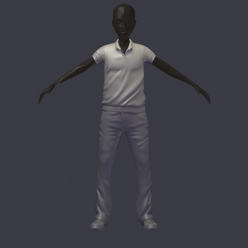 Avatar 3: Subdivision Stylish Base Avatar 3D Model
